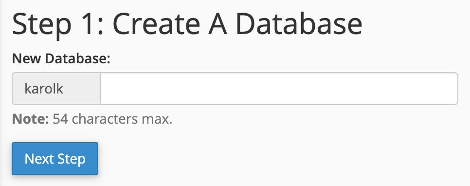 Create a new MySQL database