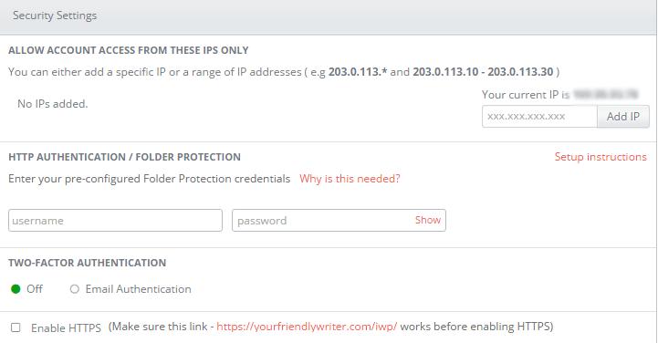 infinitewp security