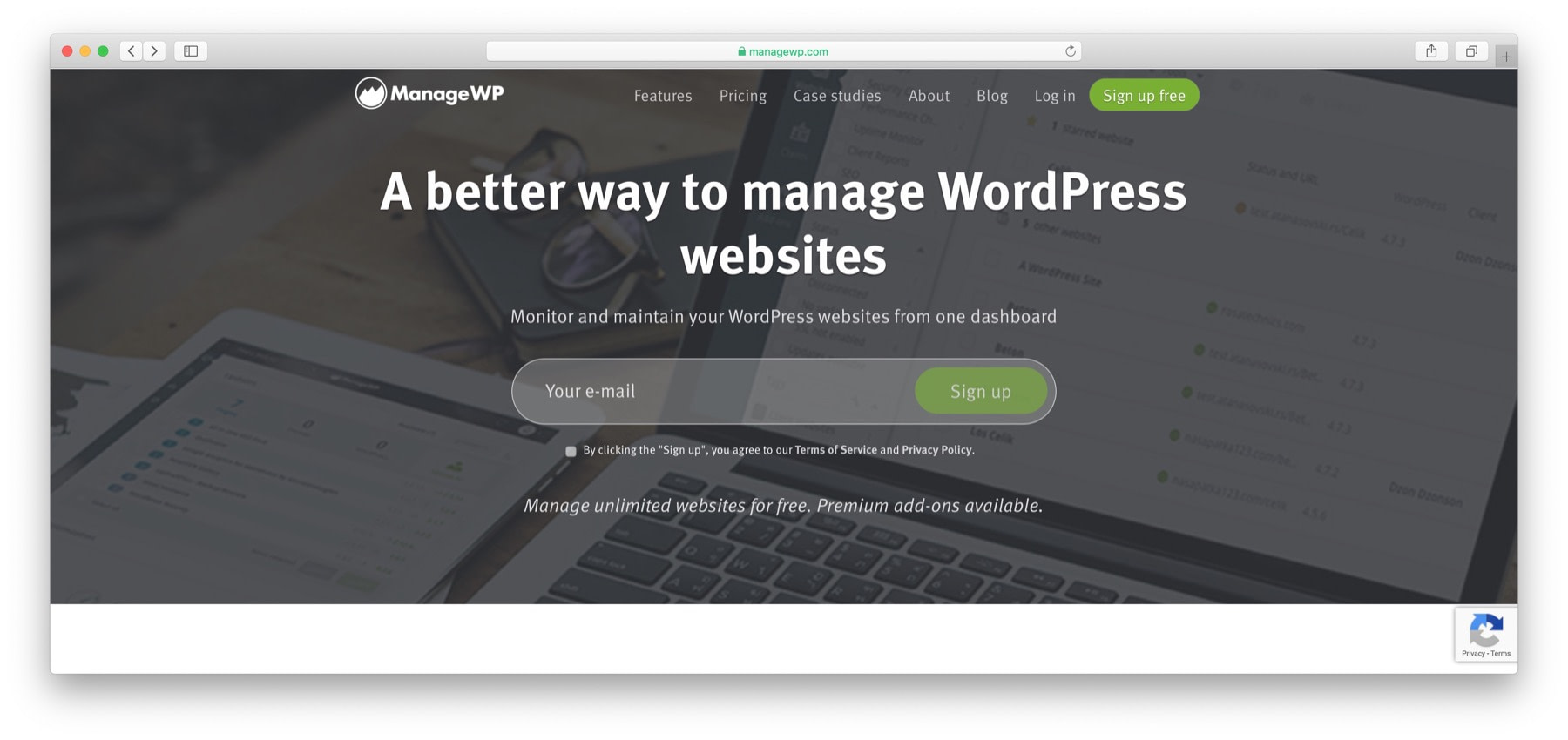 WordPress management tools: ManageWP