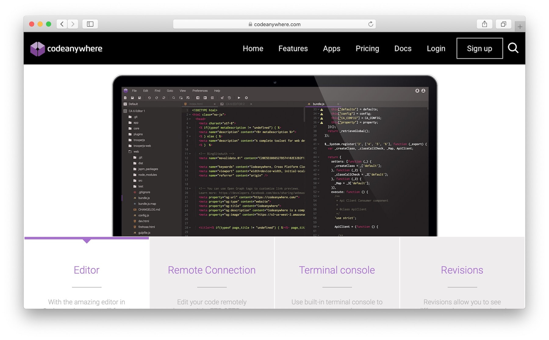 codeanywhere - perhaps the best cloud IDE overall
