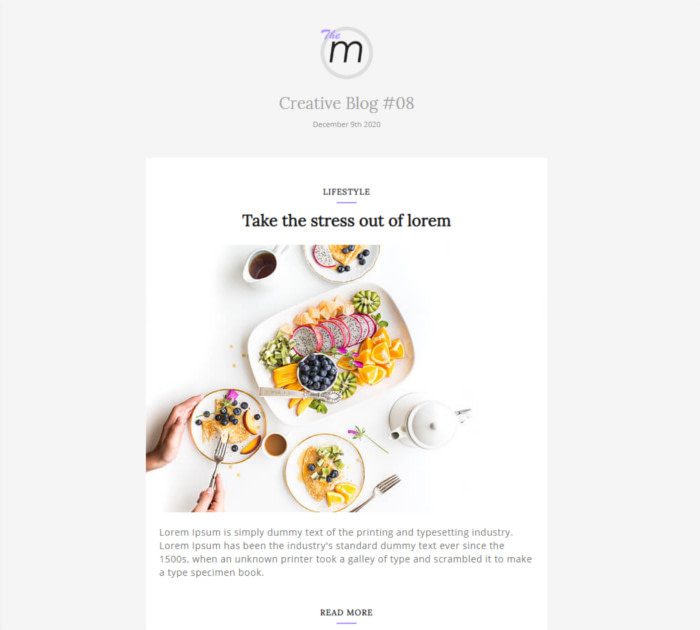 Best HTML Email Templates #3: Miley