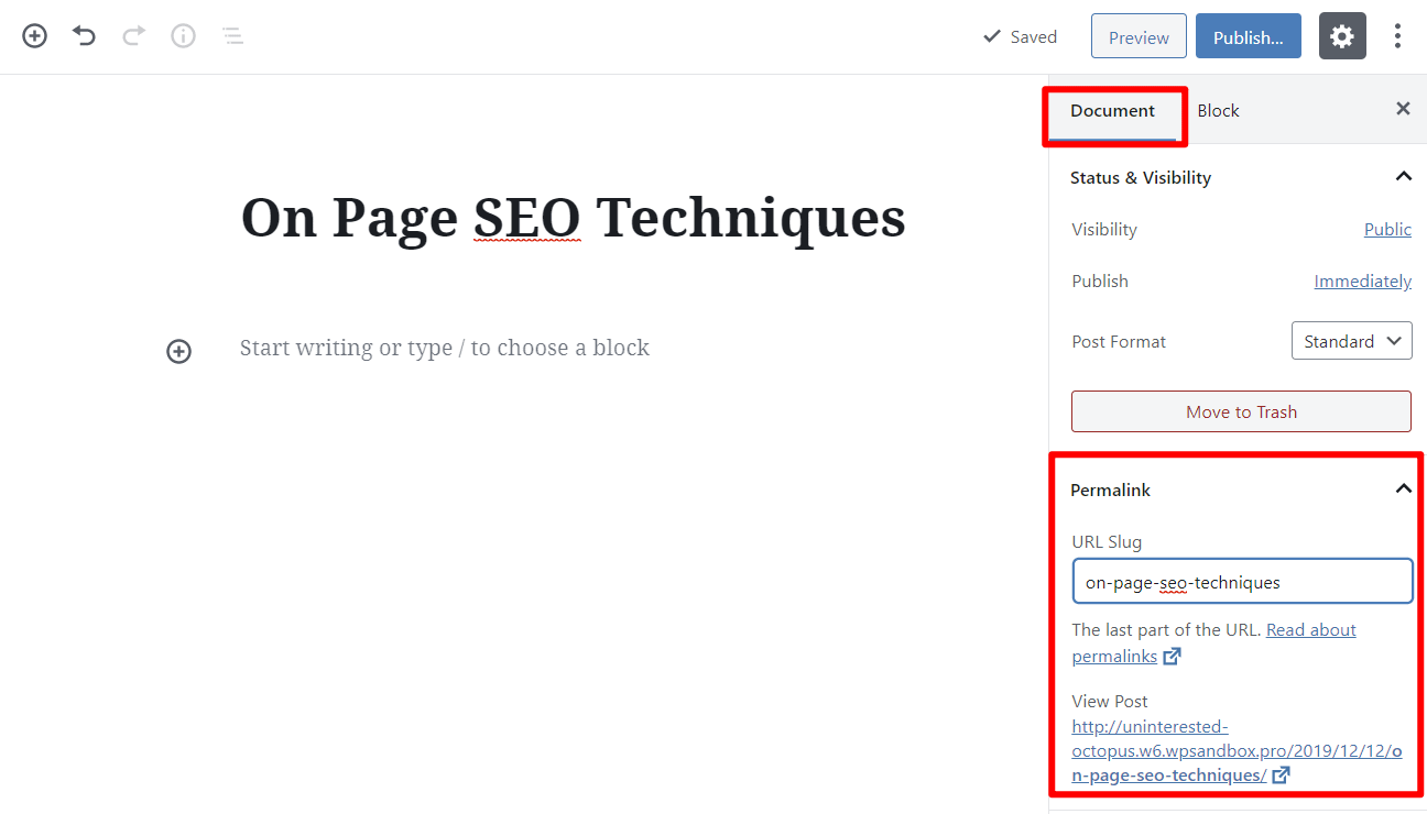 How to set your WordPress permalink and implement these on page seo techniques