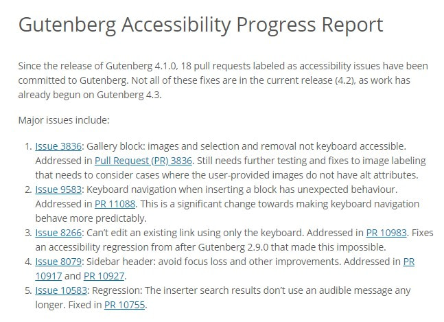 accessibility for gutenberg