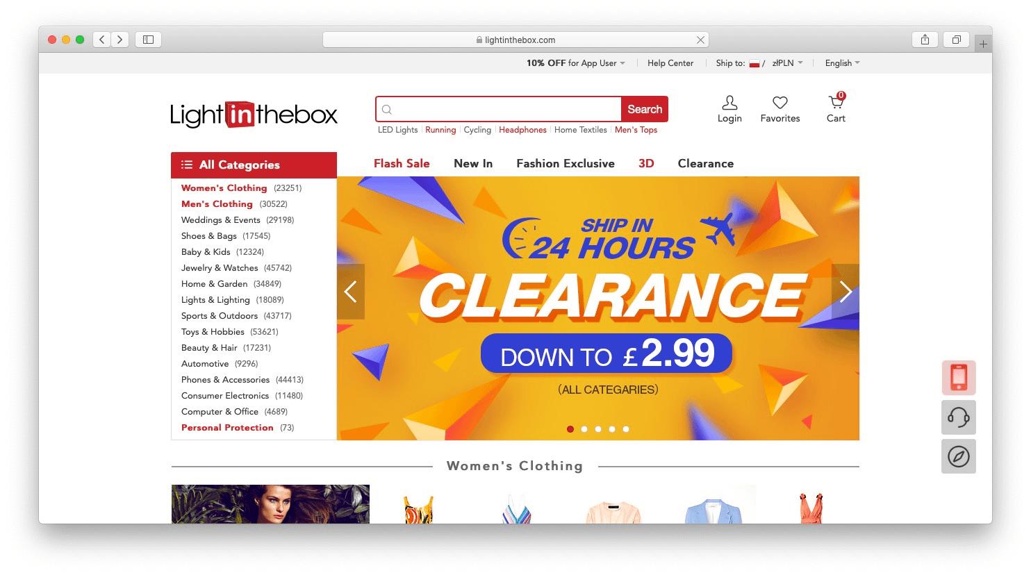 Best AliExpress alternatives: lightinthebox