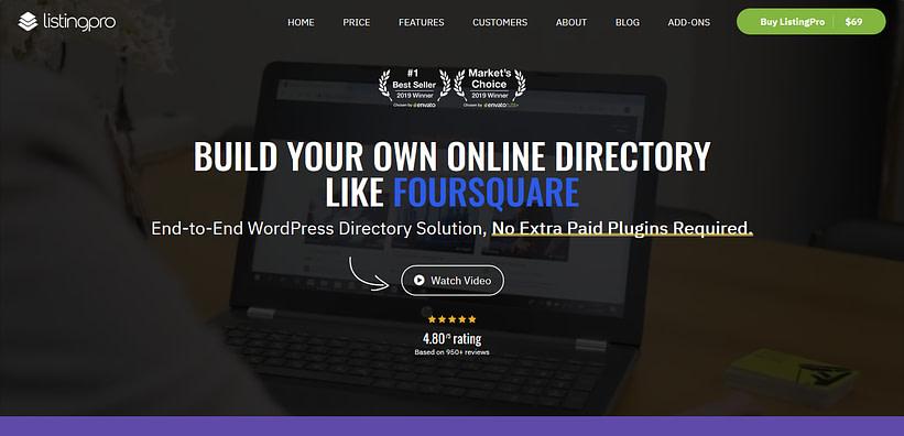 ListingPro - create a local directory website
