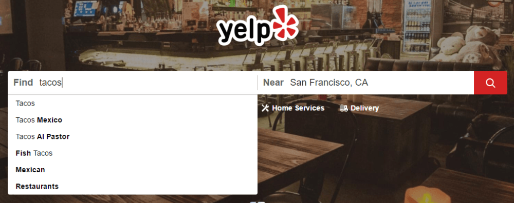 how yelp search works