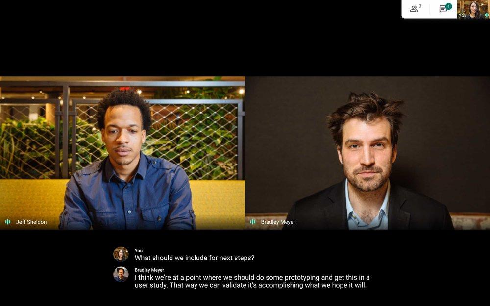 Zoom vs Microsoft Teams vs Google Meet: Google Meet in action