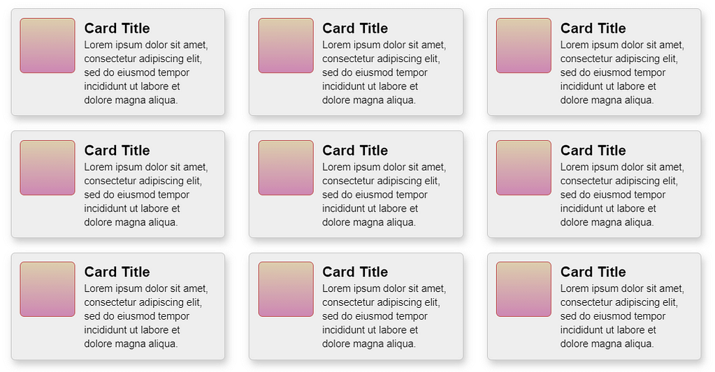 Card Layout + Media Objects with Flexbox