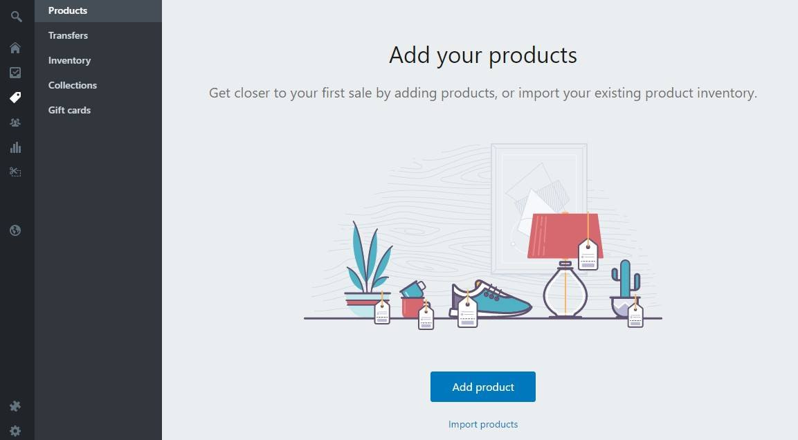 shopify product add