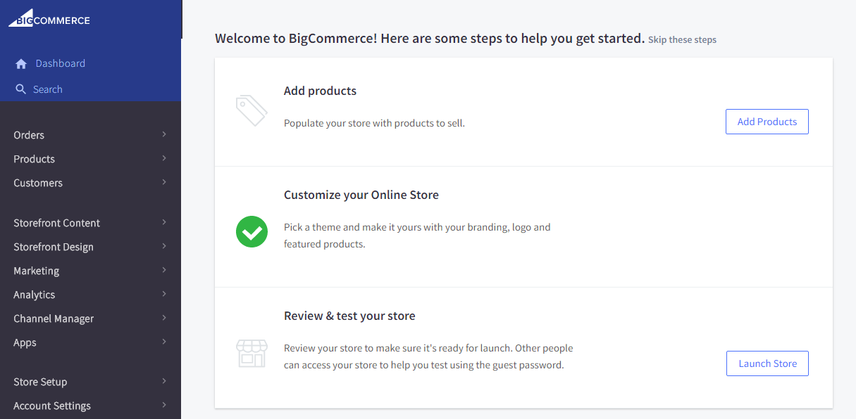 bigcommerce dash
