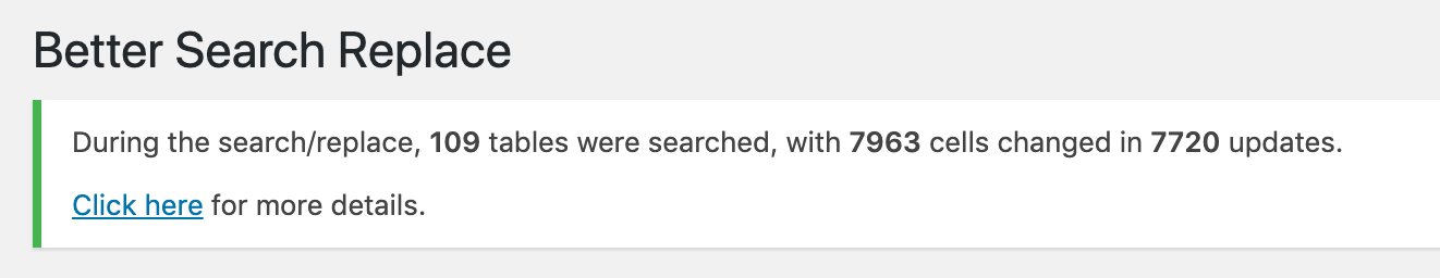 search replace success