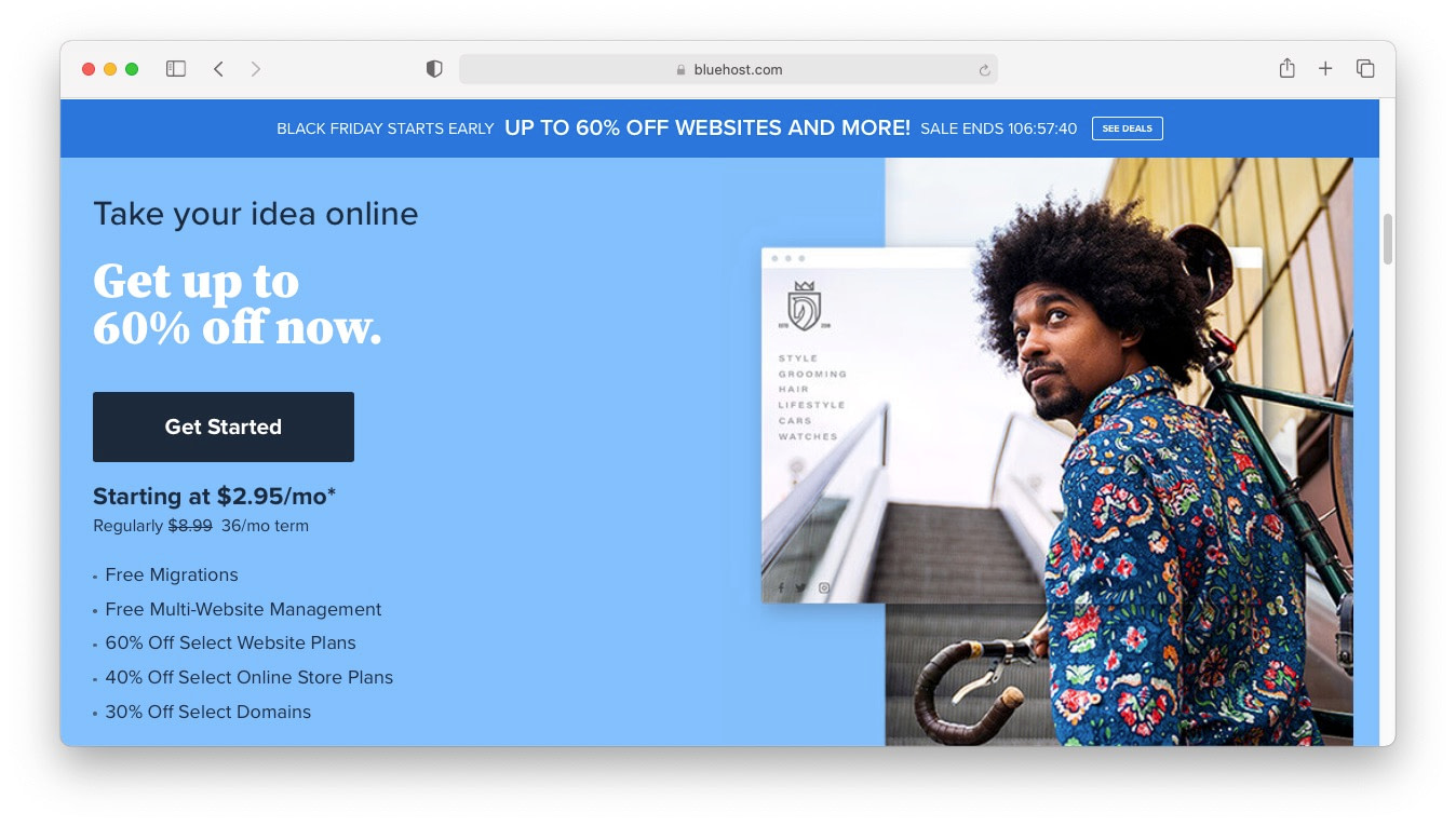 WordPress Black Friday 2020: Bluehost