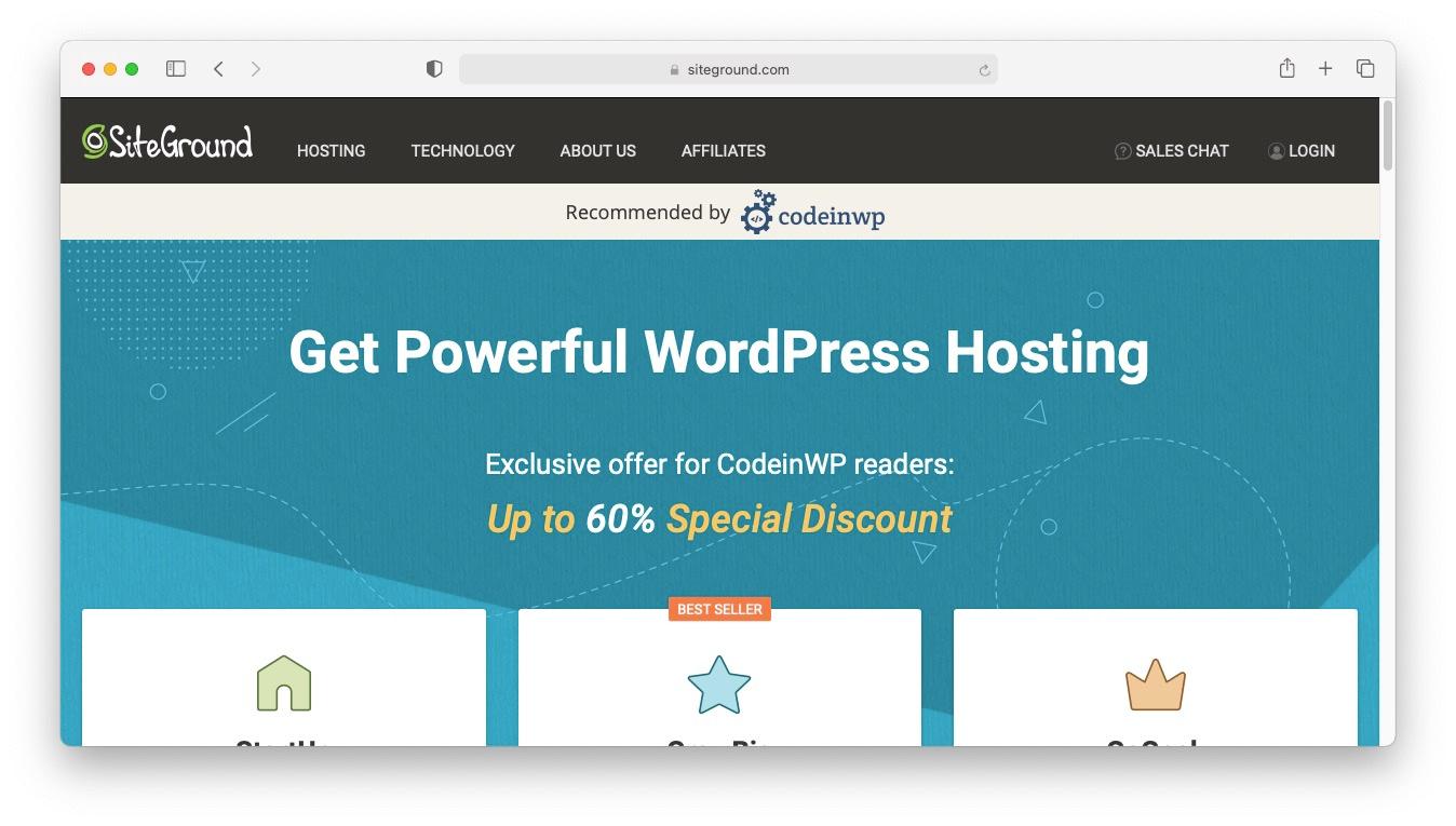WordPress Black Friday 2020: SiteGround