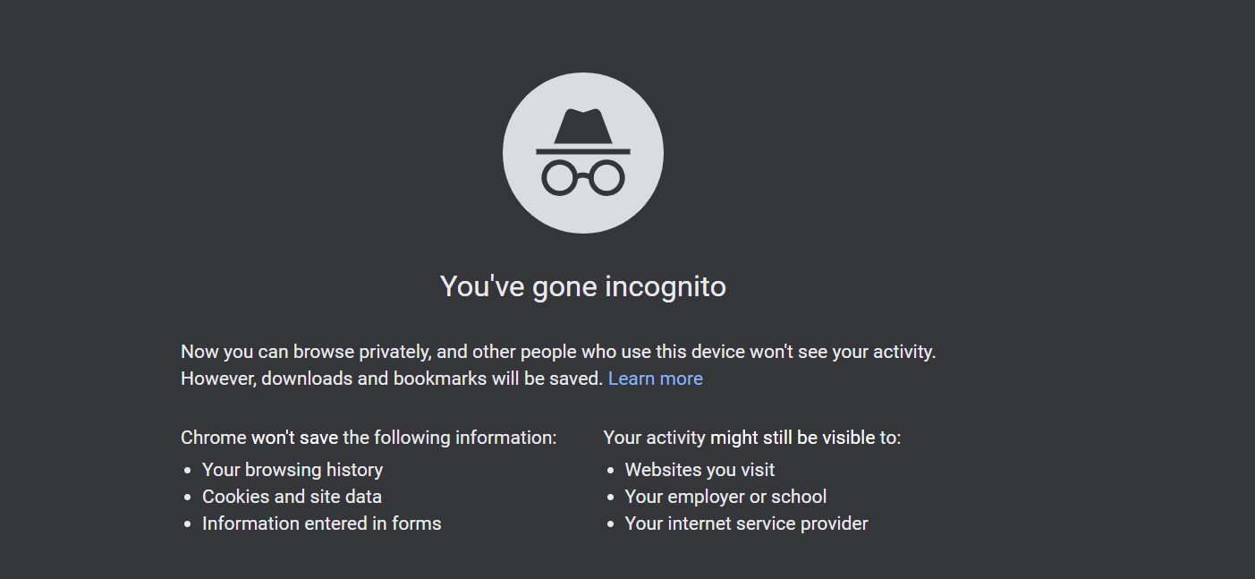 Chrome's incognito mode to stop apps from tracking you