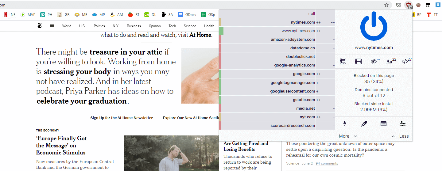 An adblocker in Chrome to stop apps tracking you