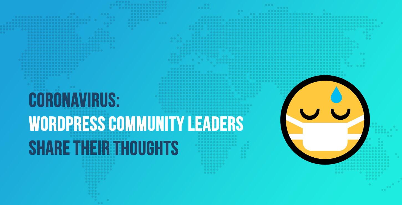 WordPress community leaders vs coronavirus