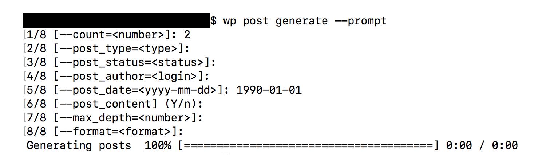 WP-CLI prompt argument