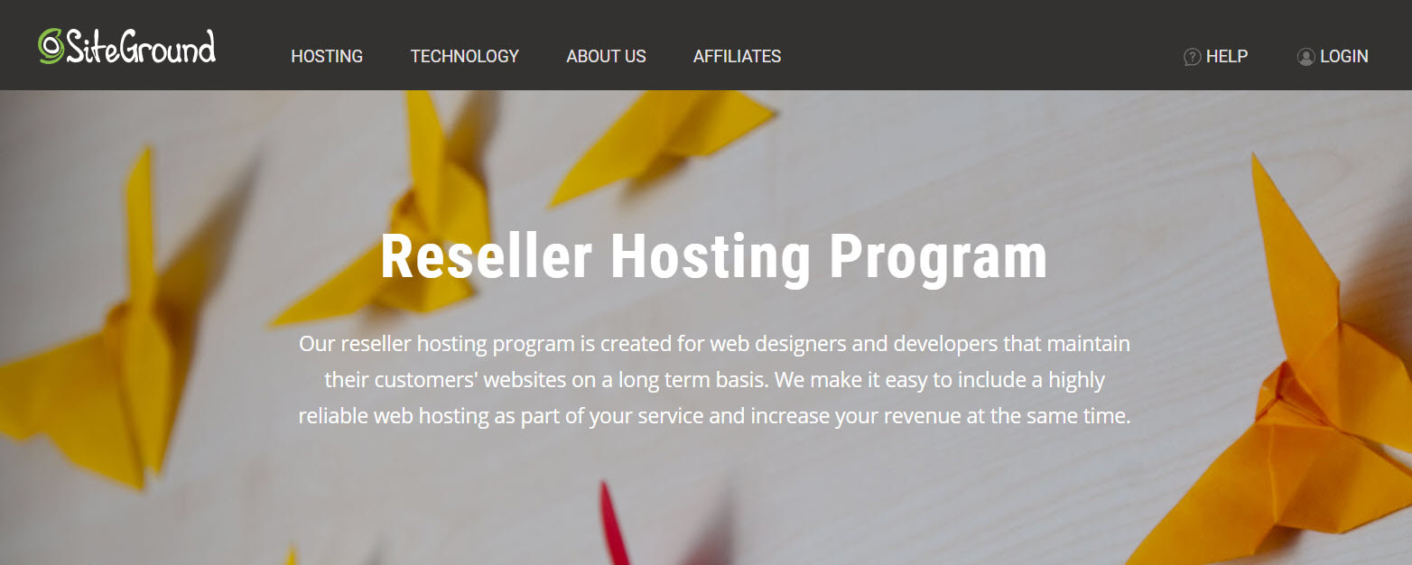 SiteGround - perhaps the top option among the best reseller hosting providers