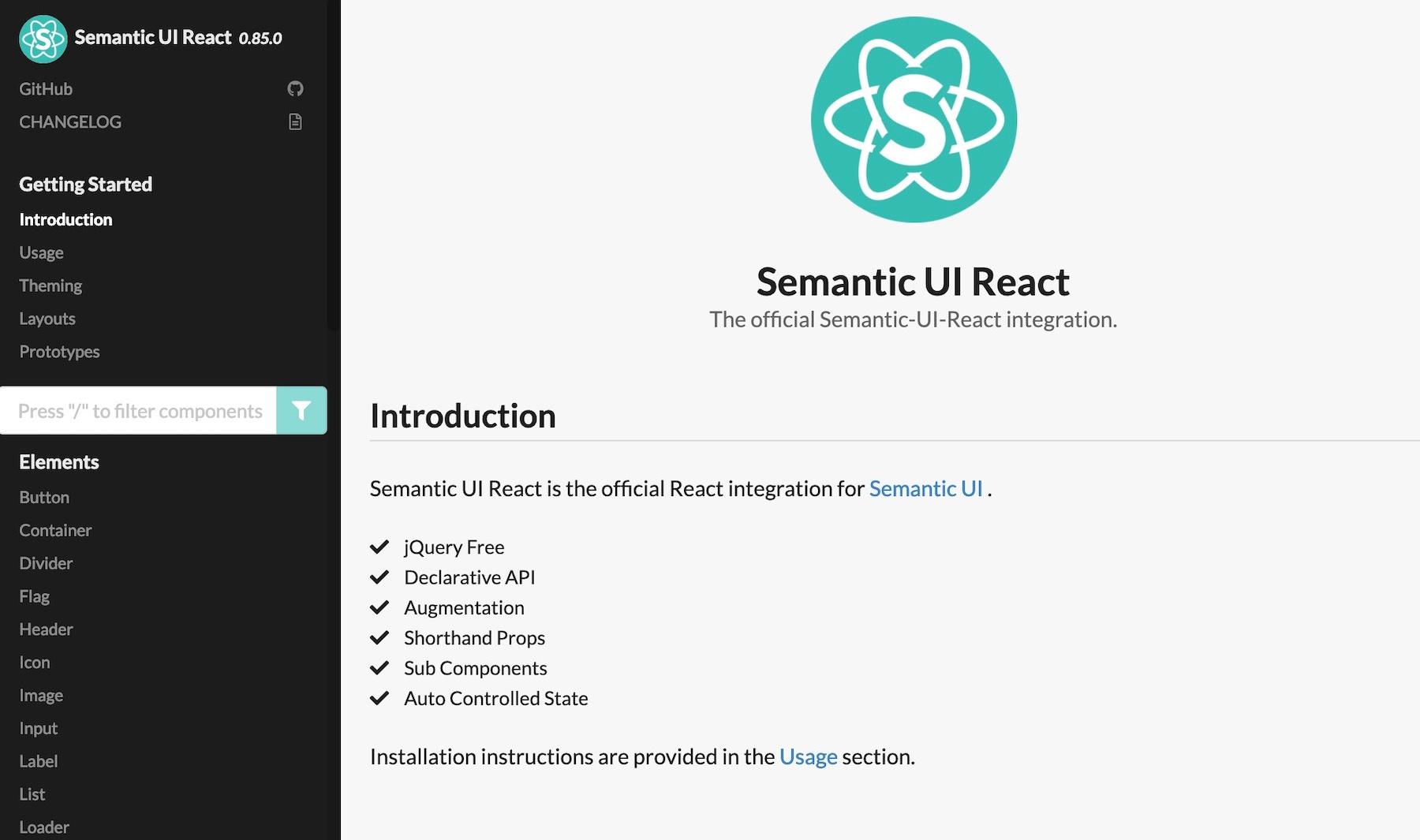 React UI component libraries: semantic-ui