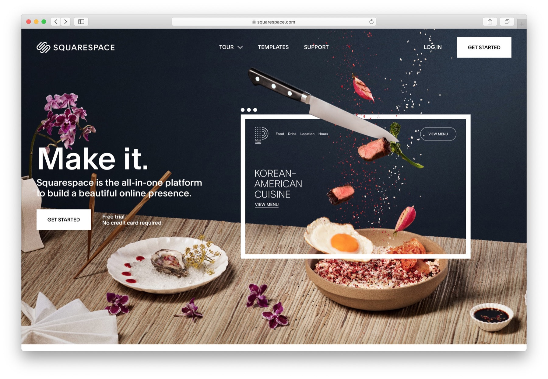 Best website builder for small business: #2 Squarespace