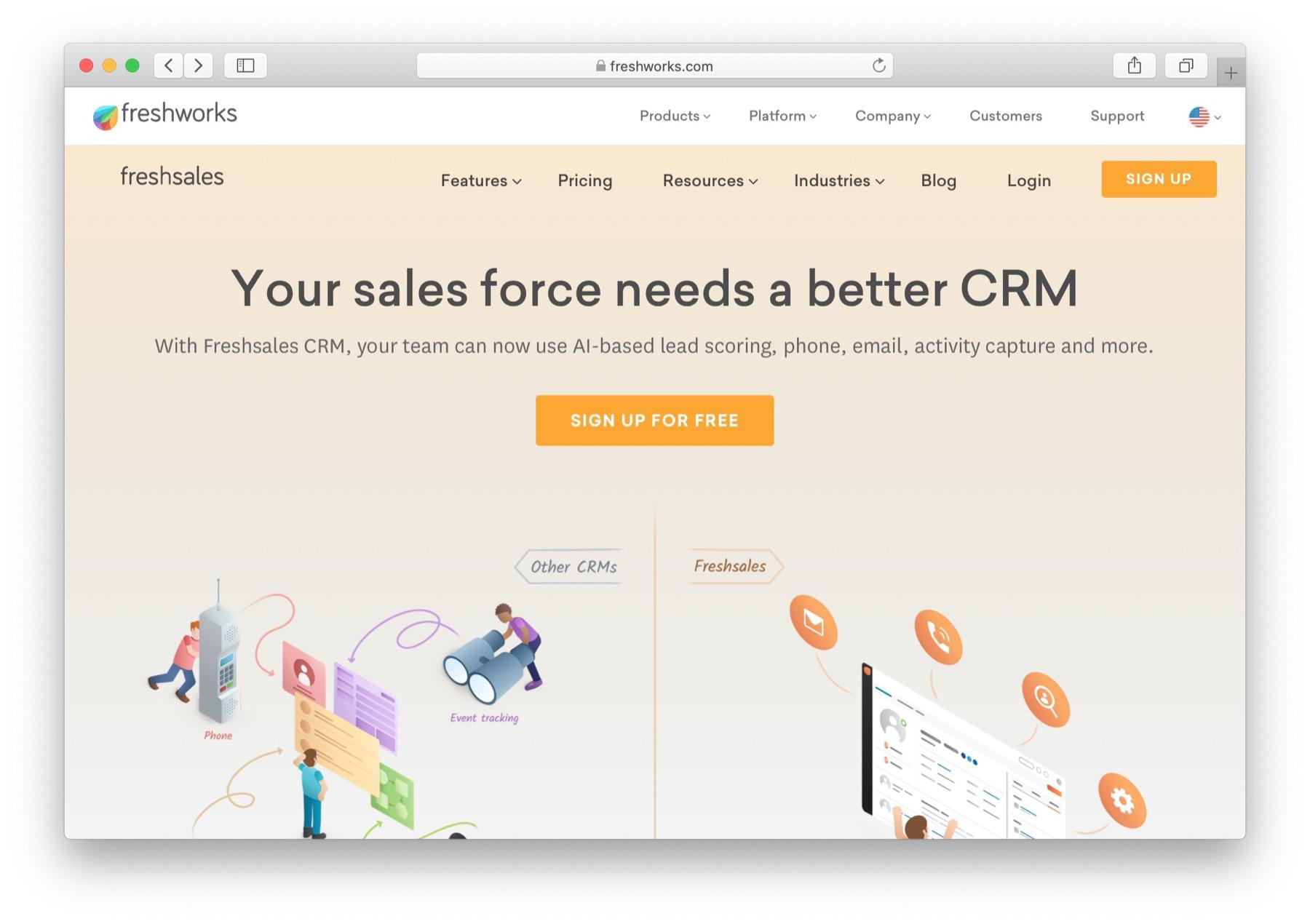 Best CRM software: freshsales