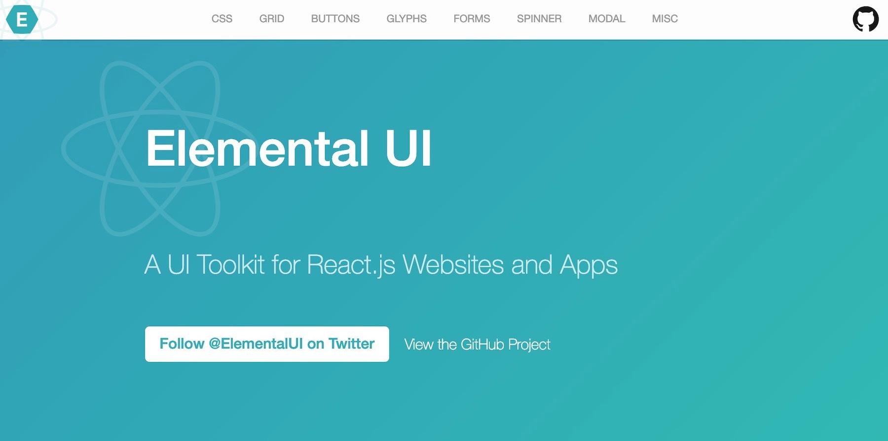 React UI component libraries: elemental-ui