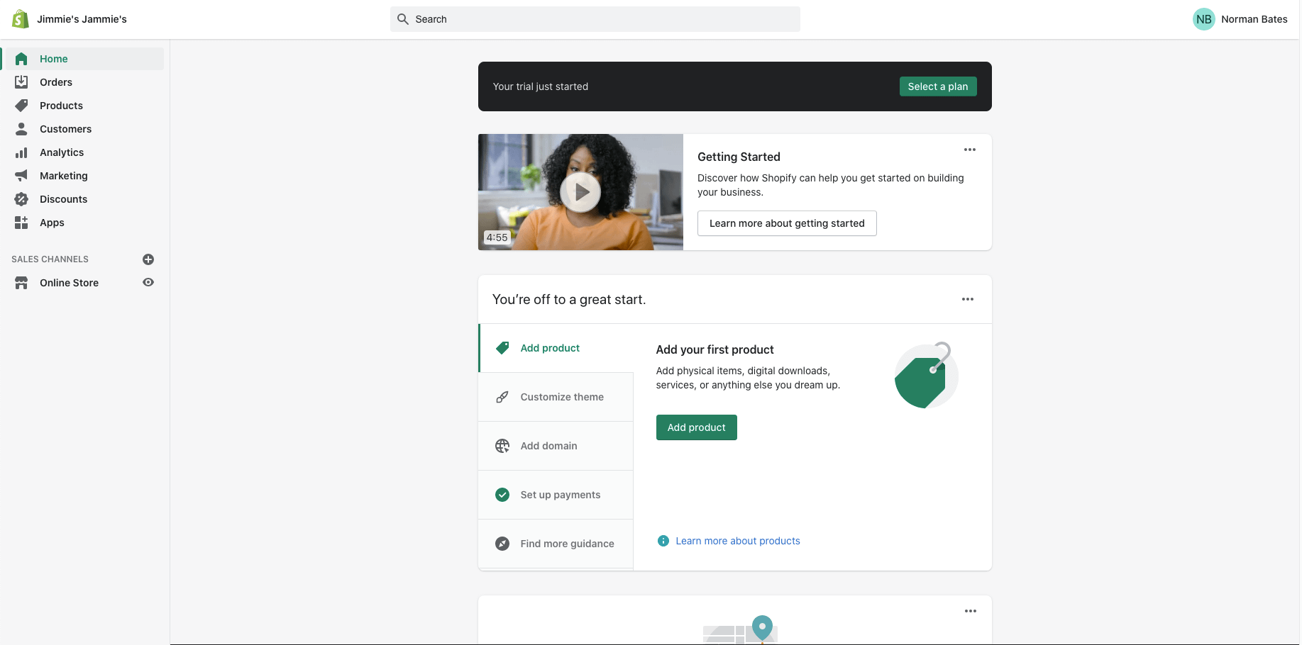 The Shopify dashboard is the easiest to use.