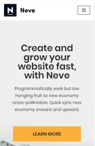 Neve Elementor templates on mobile
