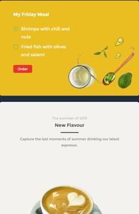 Food and Drink UI Kit on mobile