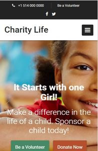 Charity Life on mobile