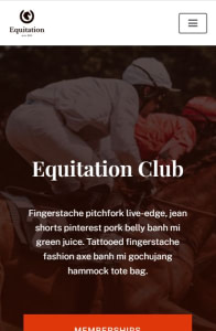 Neve Equitation on mobile
