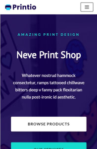 Print Shop on mobile