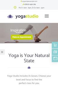 YogaStudio on mobile