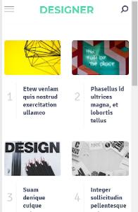Designer on mobile