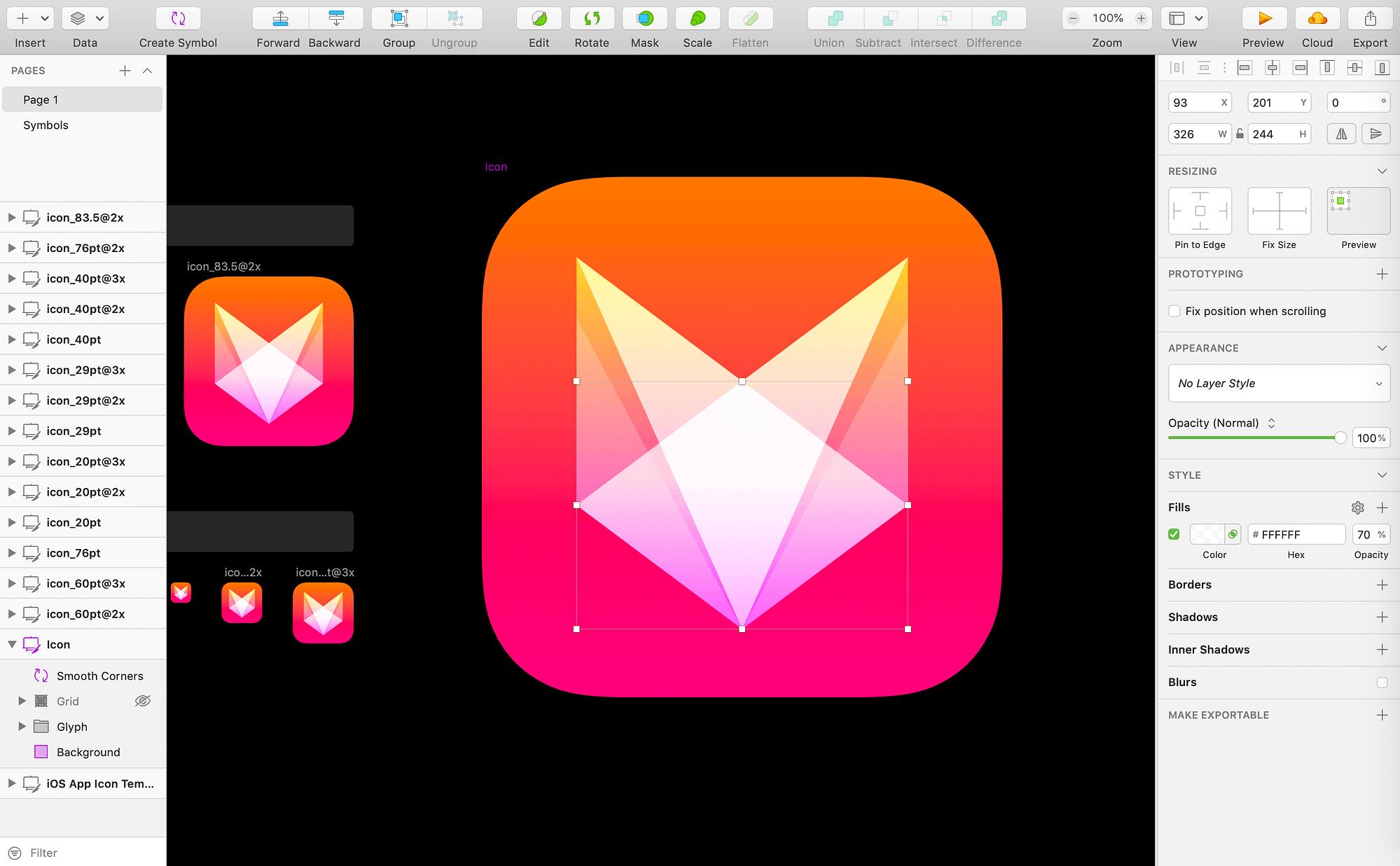 Sketch vector editing function.