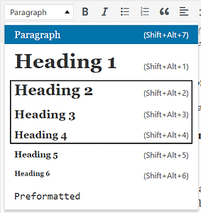 Use WordPress subheads to format your blog posts