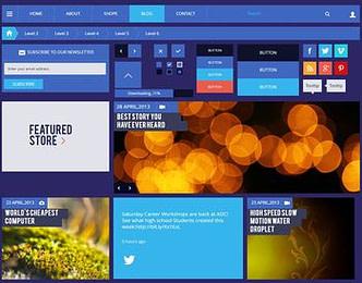 Blog Magazine UI Kit view