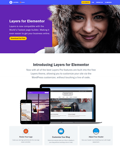layers page builder