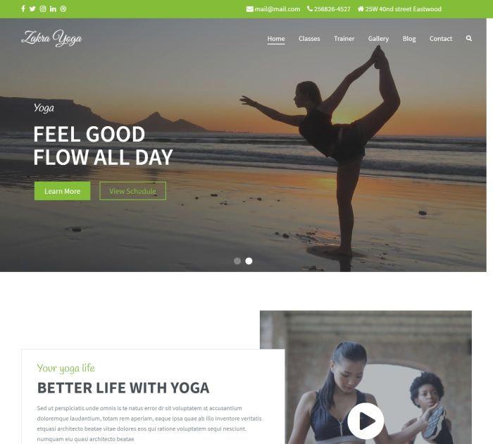 yoga WordPress themes #5: Zakra