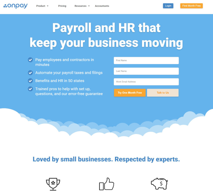 Best payroll software: OnPay