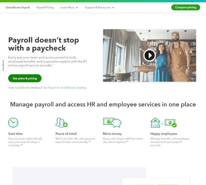 Best payroll software: QuickBooks