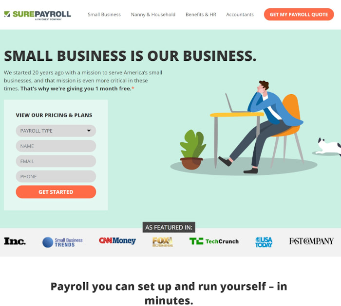 Best payroll software: SurePayroll