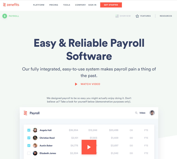 Best payroll software: Zenefits