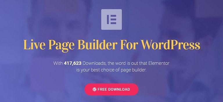 Elementor landing page