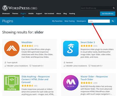 Best slider plugins on WordPress.org