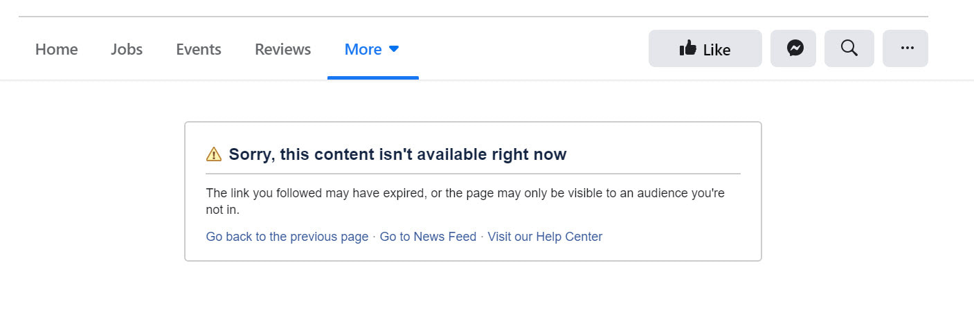 How to sell on Facebook: error