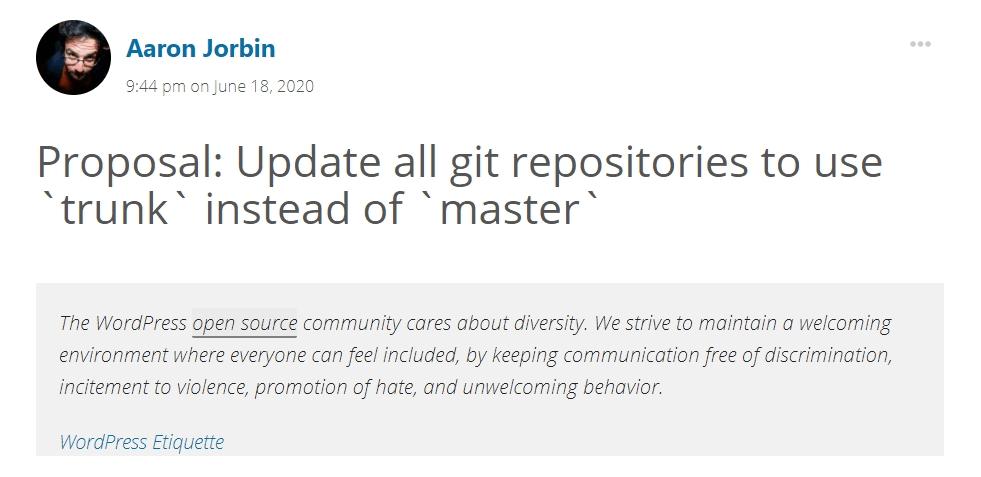 GitHub branch renaming - July 2020 WordPress news with CodeinWP