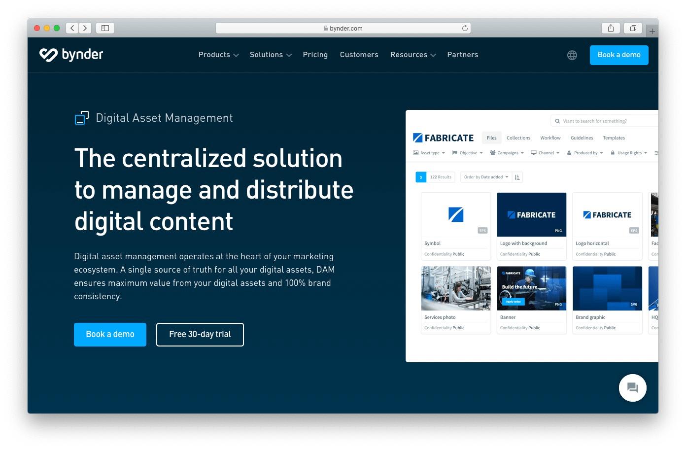 Bynder image management software