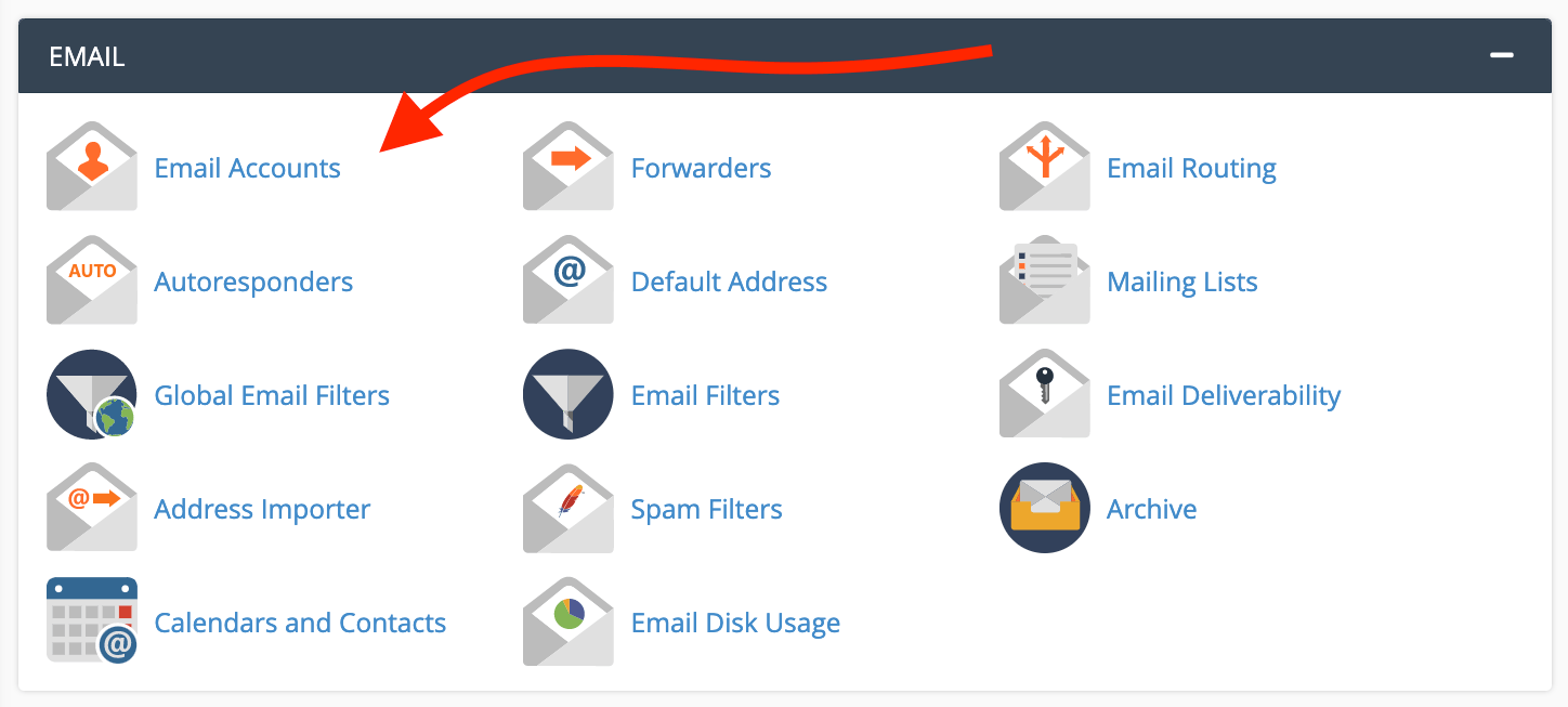 cpanel email accounts