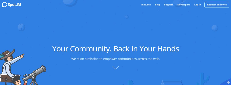 Spot.im homepage